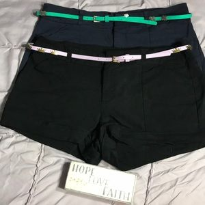 Pants - Super cute shorts with belts Size 13 (2 pairs)